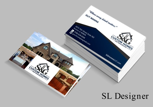 Home Builder Business Cards Design