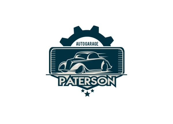 Masculine Modern Mechanic Logo Design Paterson Auto
