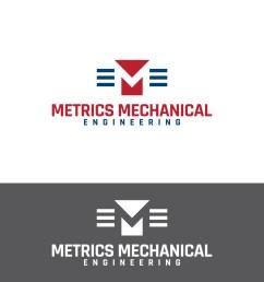 logo design by lokiasan for metrics mechanical engineering design 14059397 [ 1200 x 1200 Pixel ]