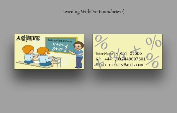 Bold Modern Tutoring Business Card Design Company