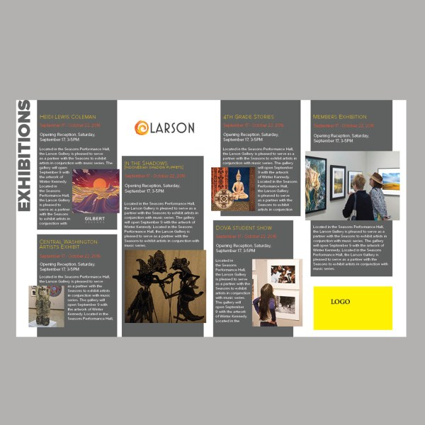 Professional Bold Art Brochure Design