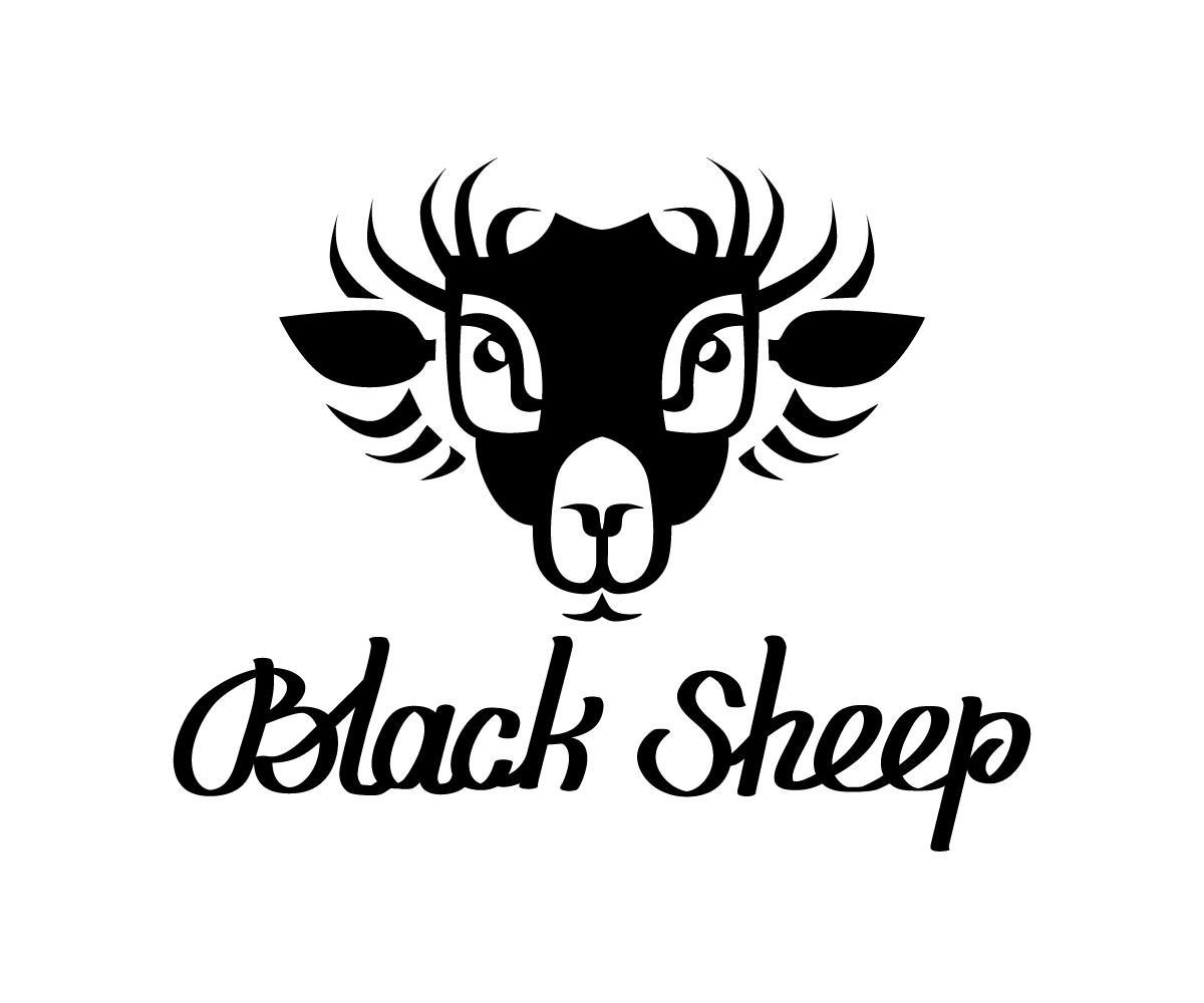 56 Elegant Playful Logo Designs For Black Sheep Guitar