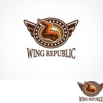 Moderno Masculino Restaurant Diseno De Logo For Wing Republic Por Arttank Diseno 589653