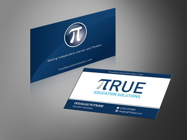 Professional Education Business Card Design