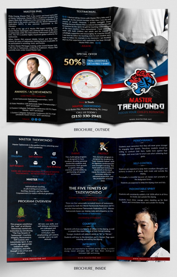 Bold Playful Martial Art Flyer Design Master Taekwondo . Sd Webcreation