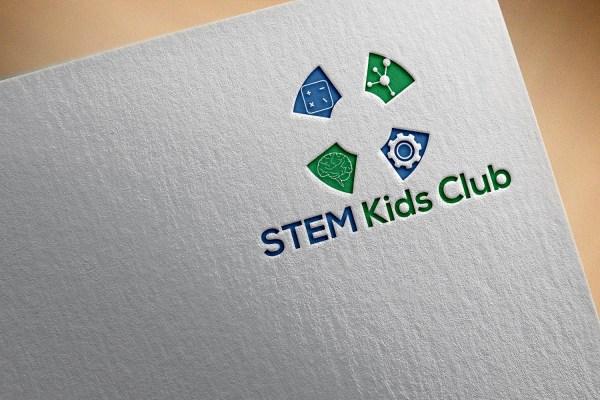 Modern Playful Education Logo Design Stem Kids Club