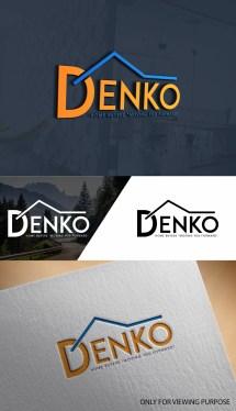 Bold Colorful Logo Design Denko Home