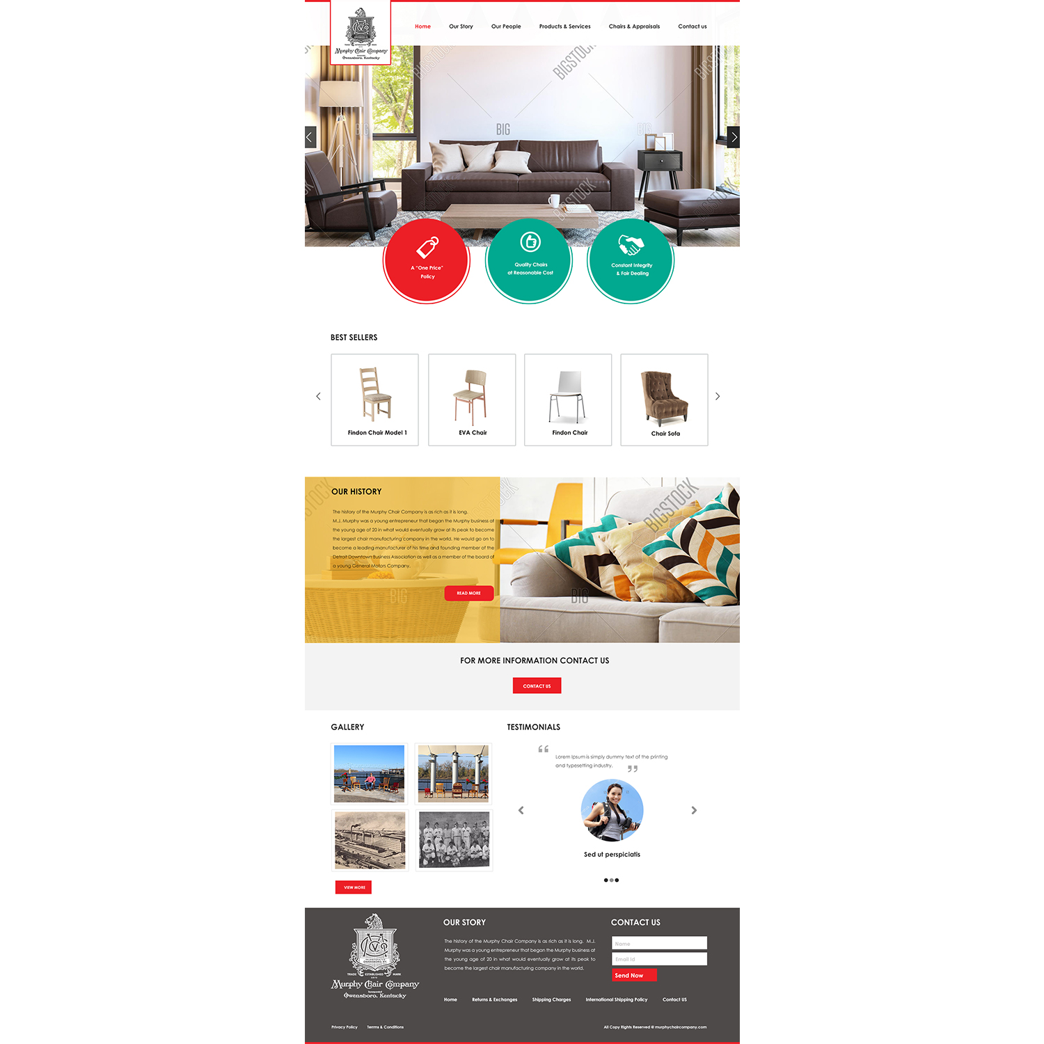 murphy chair company stand test measure serious conservative it web design for in united states 17271080