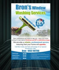 Window Cleaning Flyer Design for a Company by uk | Design ...
