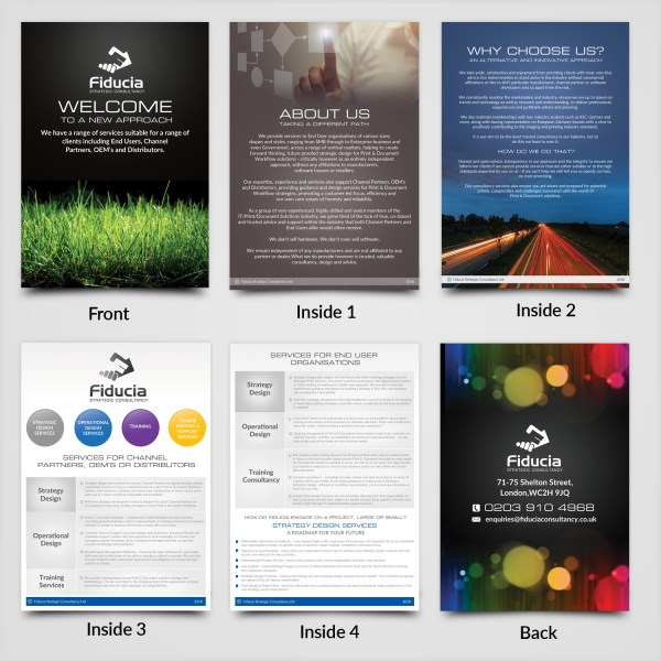 Modern Information Technology Brochure Design