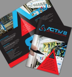 brochure design by ashtree design for activ8 electrical installations design 18964356 [ 1500 x 1500 Pixel ]