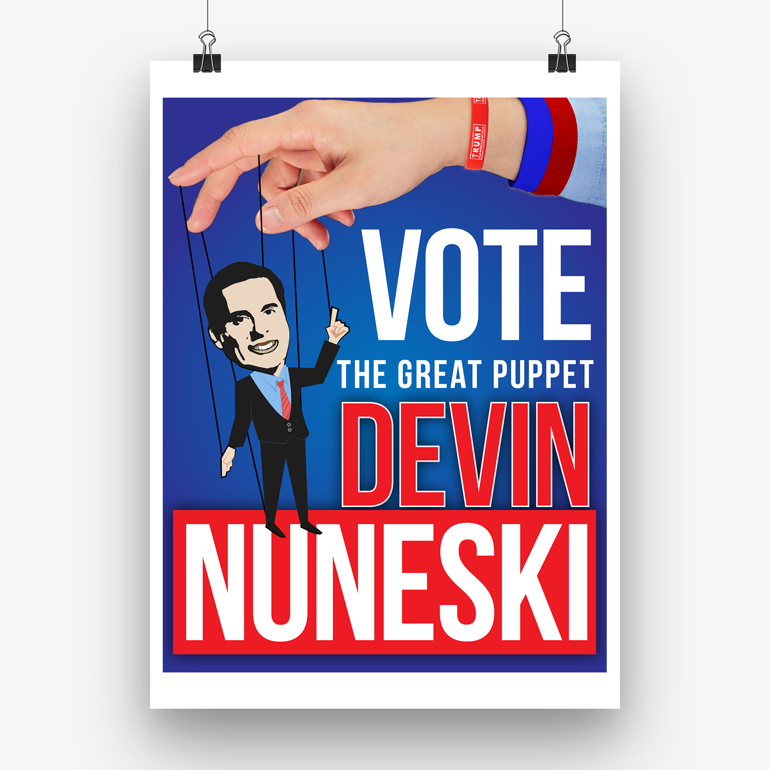 bold serious political poster
