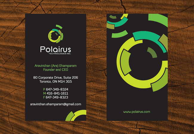 Modern Professional Software Business Card Design For
