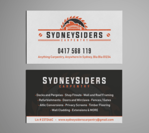 Woodworking Business Card Ideas