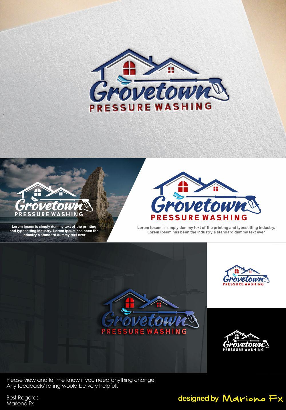 Logo Pressure Washing : pressure, washing, Professional,, Serious,, Pressure, Cleaning, Design, Grovetown, Washing, Mariono, #19895626