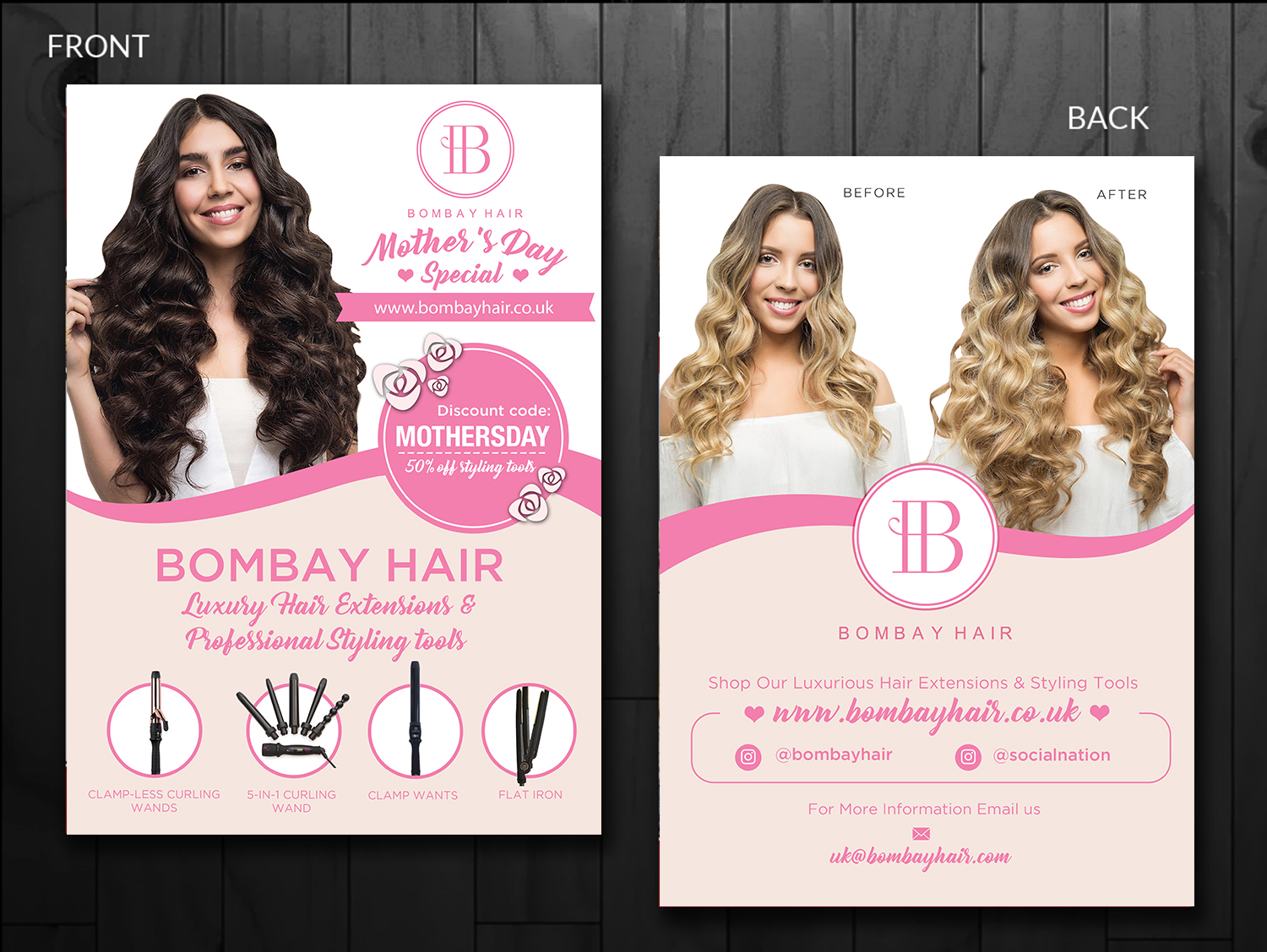 Hair Extensions Company. Need a flyer for upcoming event