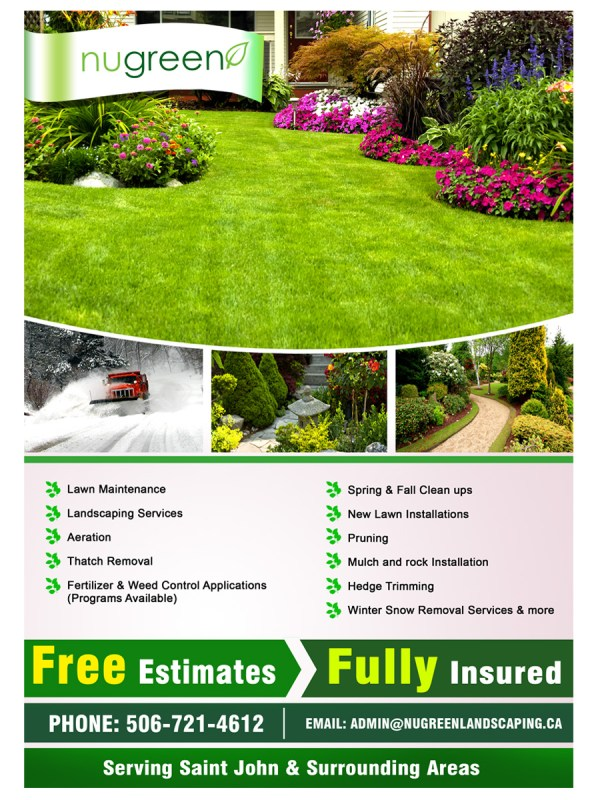 elegant playful landscaping flyer