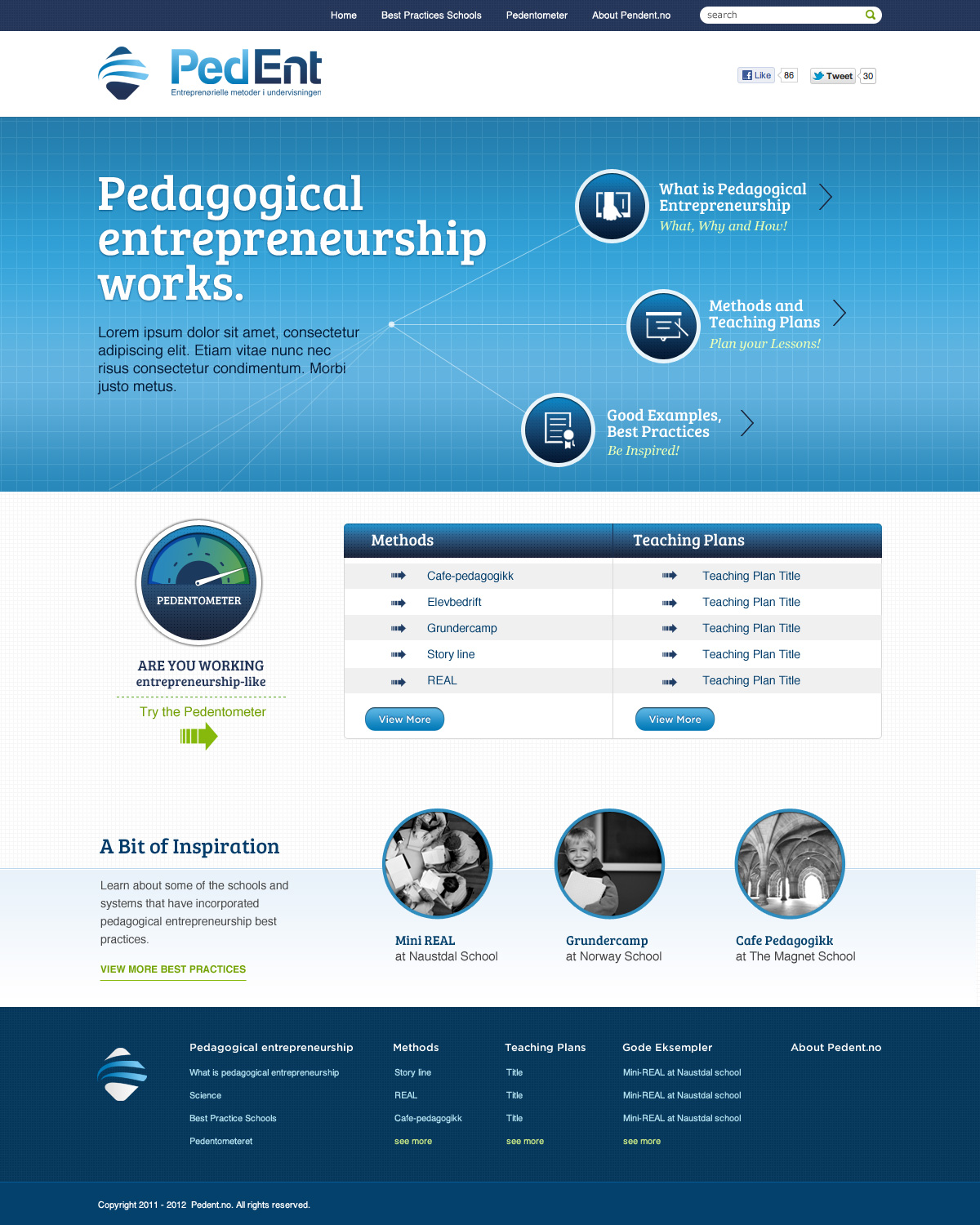 modern professional education web