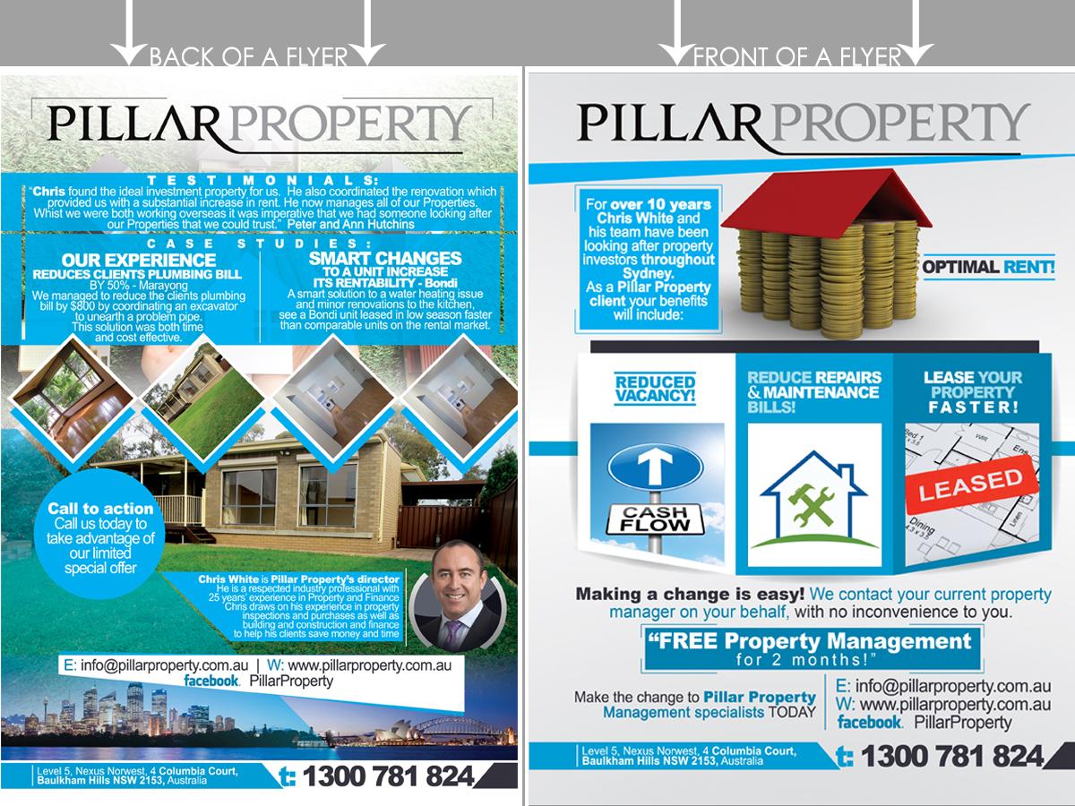 Upmarket Elegant Property Management Flyer Design For A