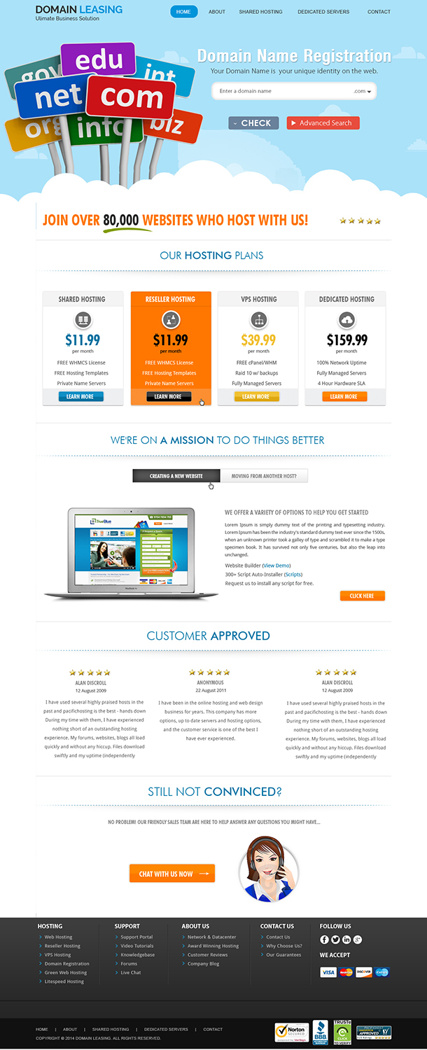 Modern Professional Domain Web Design for voove limited