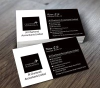 Business Business Card Design for JK chartered Accountants ...
