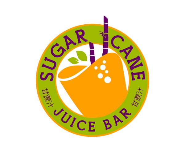 Colorful Playful Logo Design Sugar Cane Juice Bar Andre Swaby Creative Studio