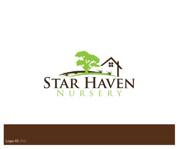 Landscape Logo Design Star Haven Nursery Esolbiz