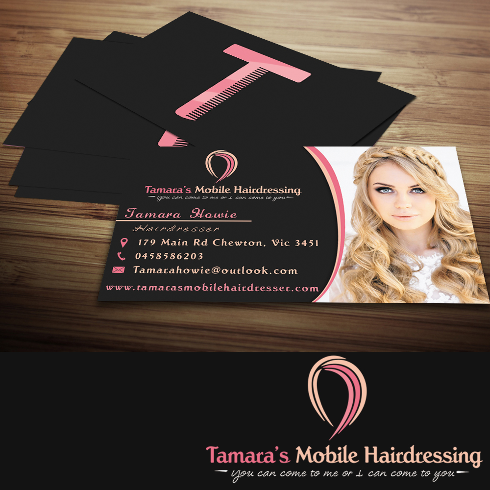 Business Card Design For Tamara''s Mobile Hairdressing By