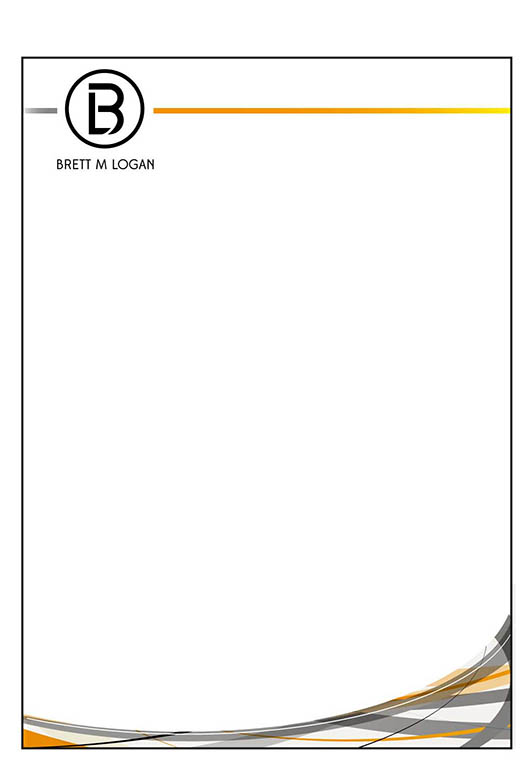 Masculine, Serious, Business Letterhead Design for a