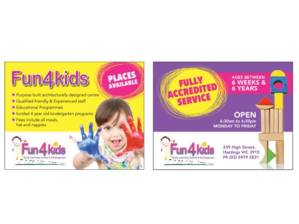 Education Flyer Design Fun 4 Kids Early Learning Centre Nitamac #4105043
