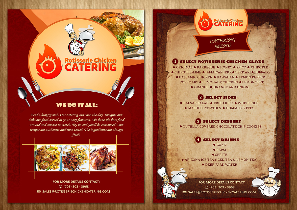 Flyers For Catering Business Ideal Vistalist Co