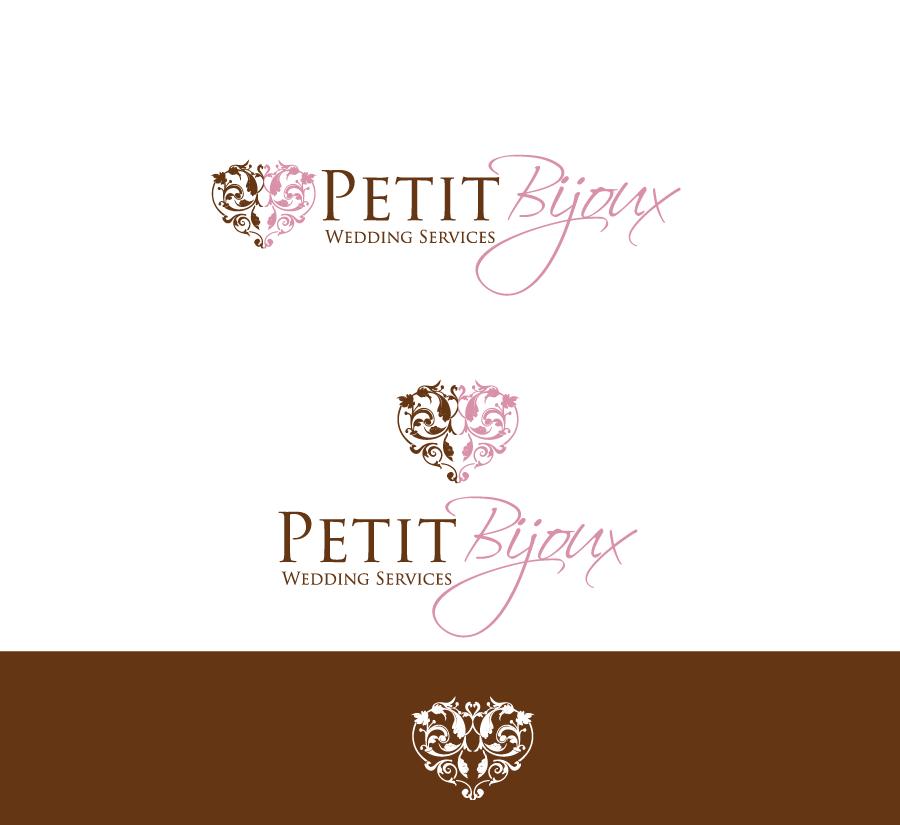 Elegant Feminine Wedding Logo Design for Petit Bijoux