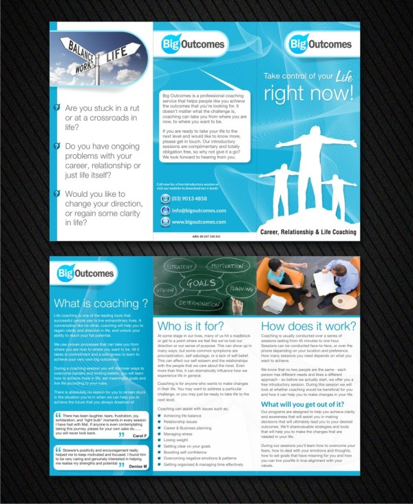 Modern Bold Life Coaching Flyer Design Company Influential Guyz #1338240