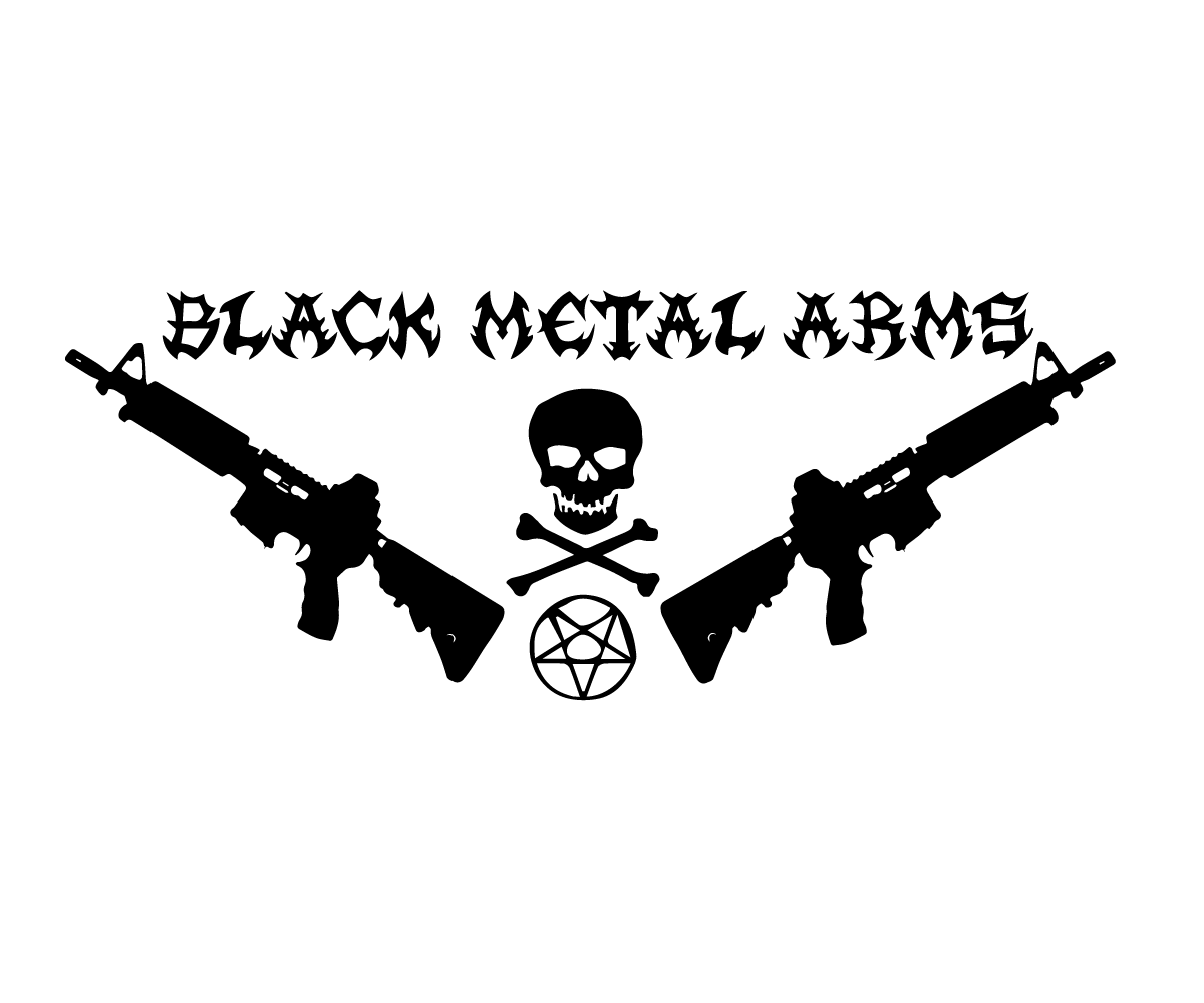 Serious Bold Artists Logo Design For Black Metal Arms By