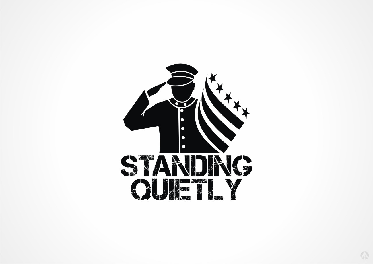 Serious Bold Flag Logo Design For Standing Quietly By
