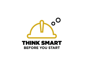 Safety Logo Design for Think smart before you start by r