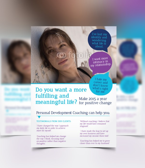 Professional Life Coaching Flyer Design Business In United Kingdom