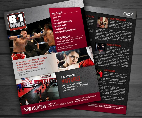Gym Flyer Design Caroline Grice Designermilk #5393453