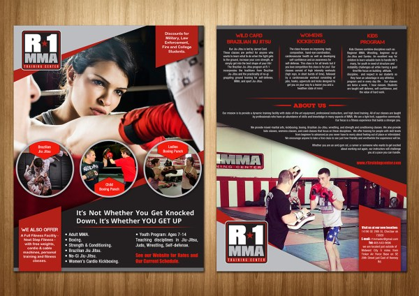 Gym Flyer Design Caroline Grice Sd Web Creation #5402530