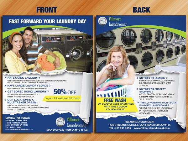 Bold Modern Flyer Design Fillmore Laundromat Sarmishtha Chattopadhyay #1531749