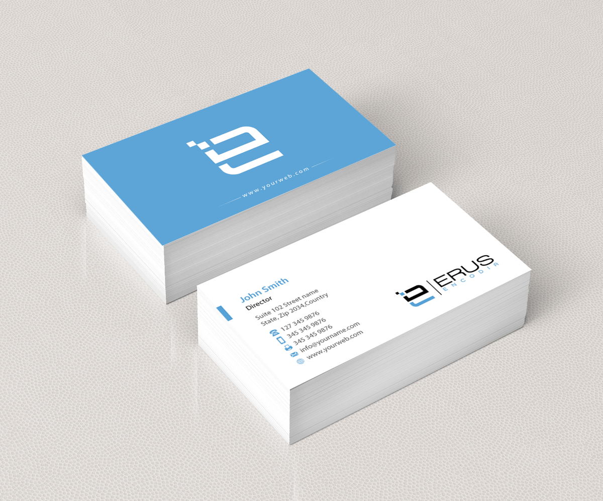 Modern Professional Architecture Business Card Design for Erus Encodia AS by pixelfountain