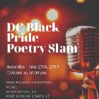 DC Black Pride Poetry Slam