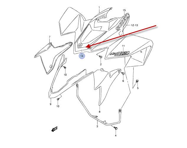 NEU: Aufkleber Frontverkleidung Suzuki LT-R 450 QuadRacer