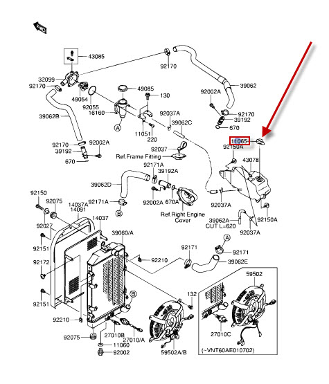 NEW: Cooler parts KAWASAKI ER 500 Twister, ZX-6R 636 Ninja