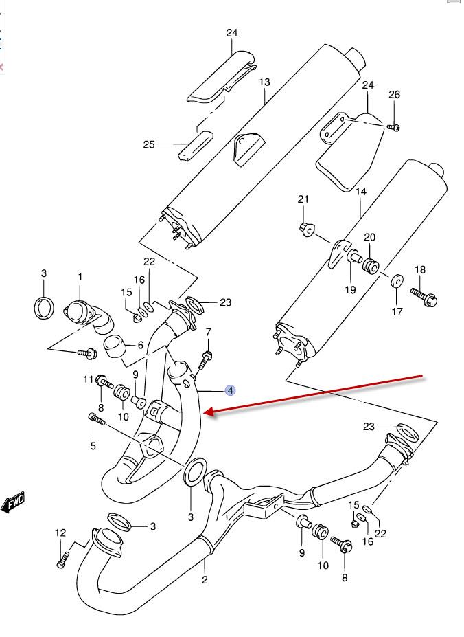 NEU: Auspuffkrümmer Suzuki TL 1000 R, TL 1000 R Downpipes