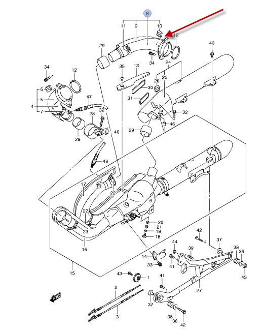 NEU: Auspuffkrümmer Suzuki VZR 1800 R Intruder M1800