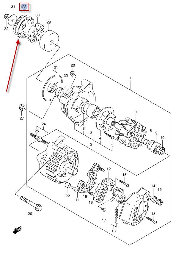 NEU: Zahnrad Lichtmaschine Suzuki GSX-R 750, GSF 1200