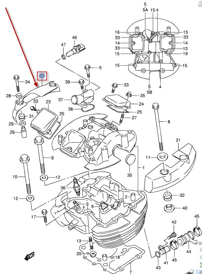 NEU: Abdeckung Ventildeckel Suzuki VL 800 Volusia, VL 800