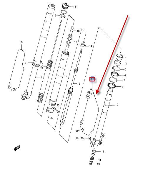 NEU: Gabelprotektor / Gabelschutz Suzuki RM 125, RM 125