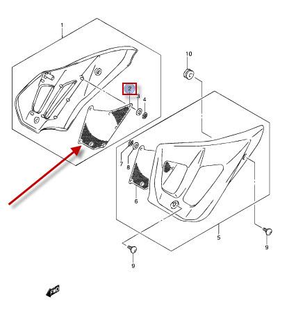 NEU: Gitter Rahmenverkleidung Suzuki GSF 650 Bandit, GSF